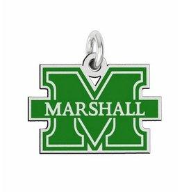 Collegiate Bead Company Marshall University Enamel Cut Out Logo Charm