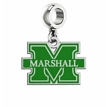 Collegiate Bead Company Marshall University Enamel Cut Out Logo Dangle