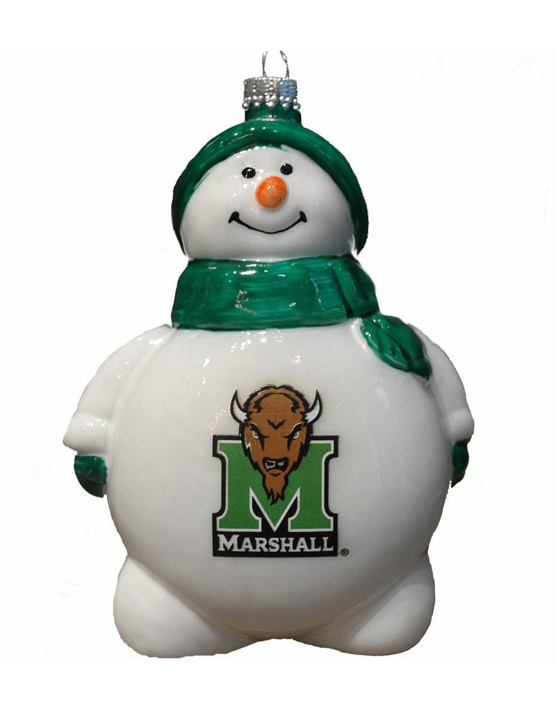 Marshall University Snowman Christmas Ornament