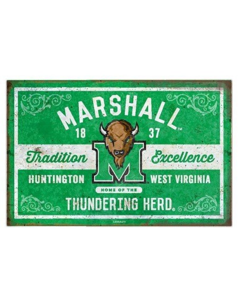 Marshall University Tradition & Excellence Tin Sign