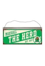 Marshall University The Herd Slant Tin Sign