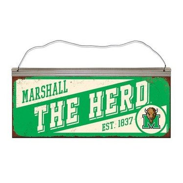 Marshall University The Herd Slant Tin Sign
