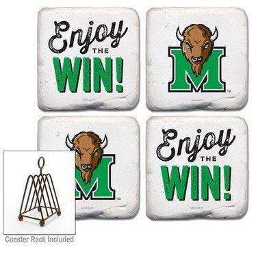 """Marshall University """"Enjoy the Win"""" Coasters"""