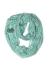 Marshall University Gingham Infinity Scarf