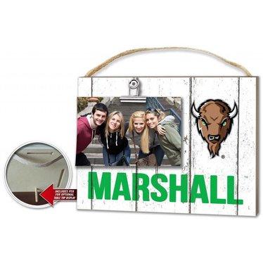 Marshall University Clip It Weathered Frame