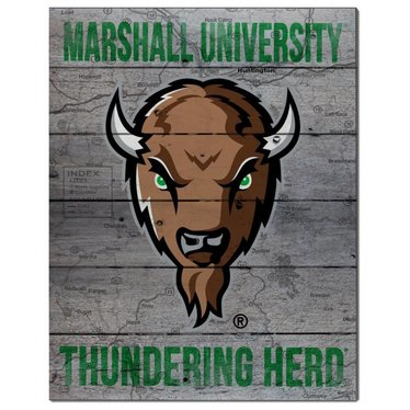 Marshall University Road to Victory Pallet Art