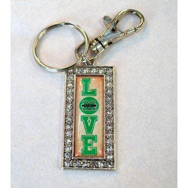 Marshall University The Herd Love Crystal Keychain