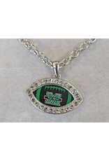 Marshall University The Herd Bling Football Necklace