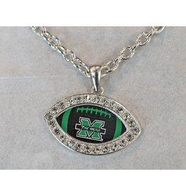 Marshall University The Herd Bling Football Necklace
