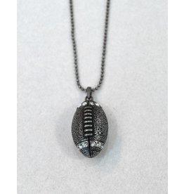 Antique Silver Football Necklace
