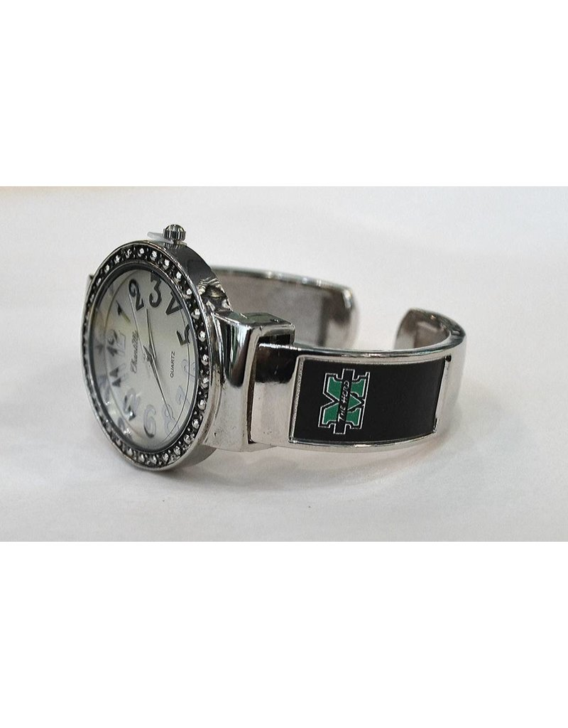 Marshall University The Herd Round Dot Cuff Watch