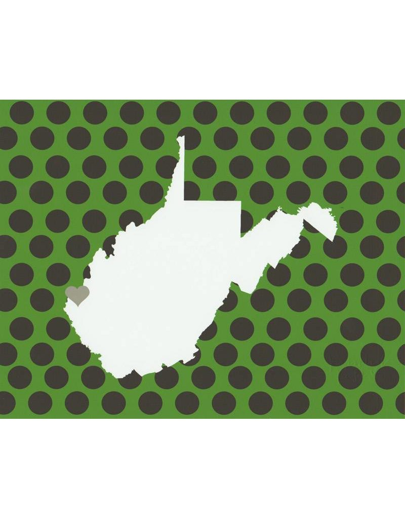 Huntington, WV Polka Dot Print