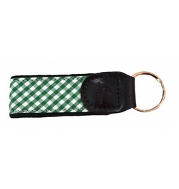 Olly Oxen Green Gingham Key Fob