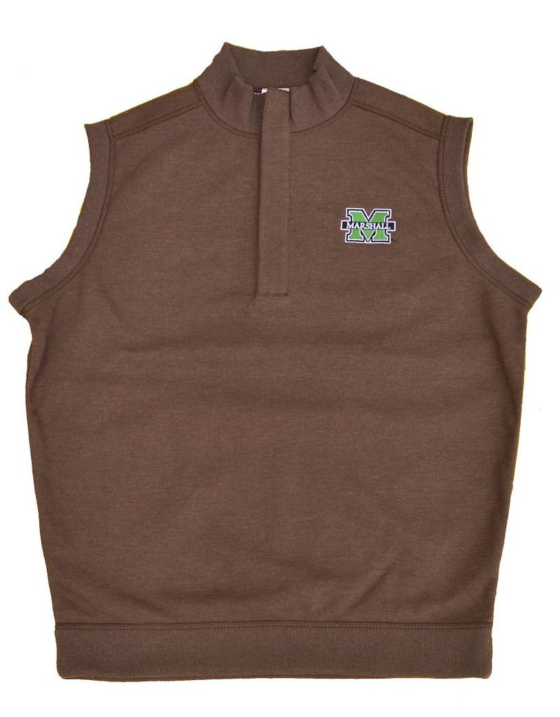 Marshall University 1/4 Zip Lined Cotton Vest