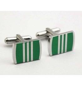 Green Rectangle Cufflinks