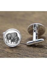 Antique-look Buffalo Cufflinks
