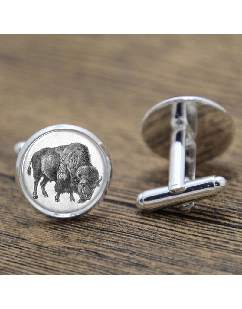 Antique-look Buffalo Cufflinks
