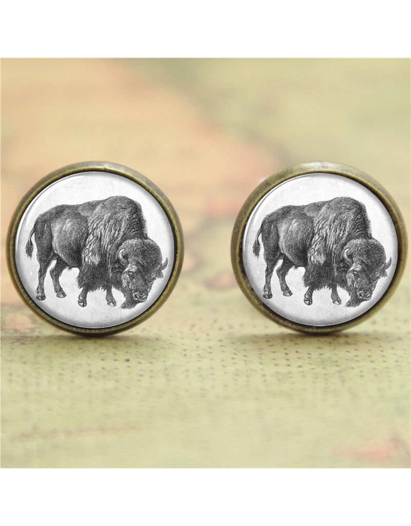Antique-look Buffalo Earrings