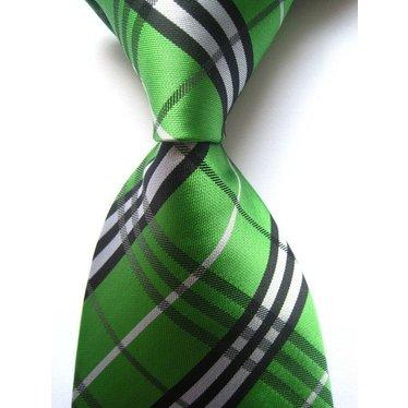 Green Wide Plaid Tie