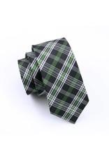Black Jacquard Plaid Silk Tie