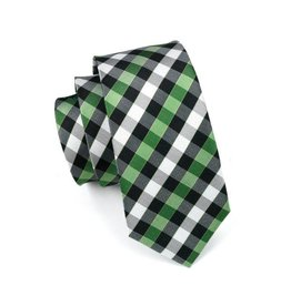 Black & Green Plaid Silk Tie