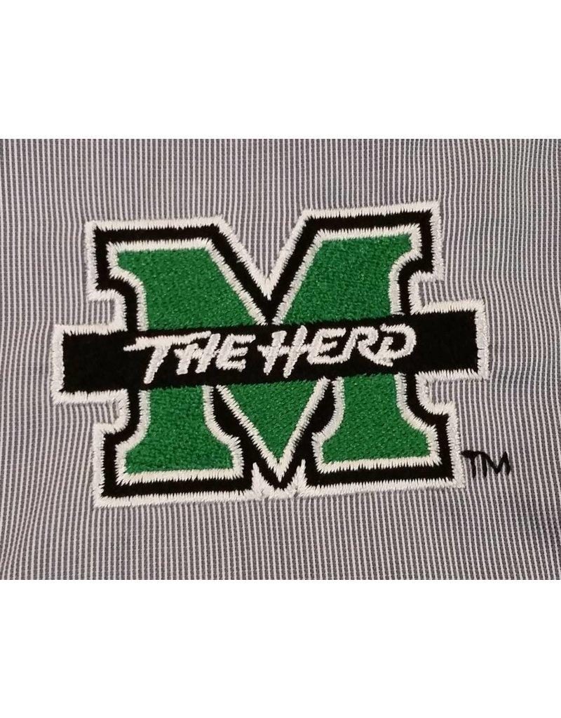 Marshall University Feather Stripe Dress Shirt