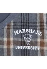 Marshall University Camel Plaid Wool Vest
