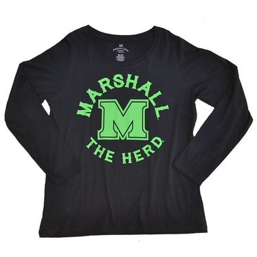 Marshall University Curvy Long-Sleeve Tee