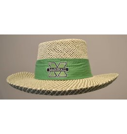 Marshall University Women's Gambler Straw Hat w/ Bow
