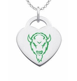 Collegiate Bead Company Marshall University Color Heart Pendant