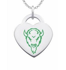 Collegiate Bead Company Marshall University Color Heart Pendant