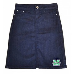 Old Main Exclusive Marshall University Junior's Denim Skirt