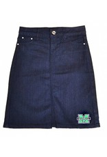 Old Main Exclusive Marshall University Women's Denim Skirt
