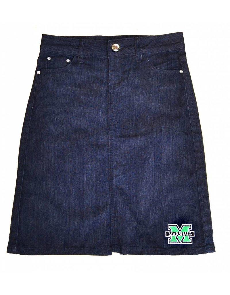 Old Main Exclusive Marshall University Women's Denim Skirt