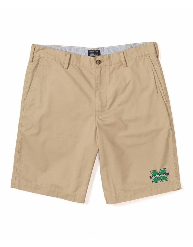 Old Main Exclusive Marshall University Men's Flat Front Khaki Short