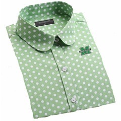 Old Main Exclusive Marshall University Women's Polka Dot Blouse