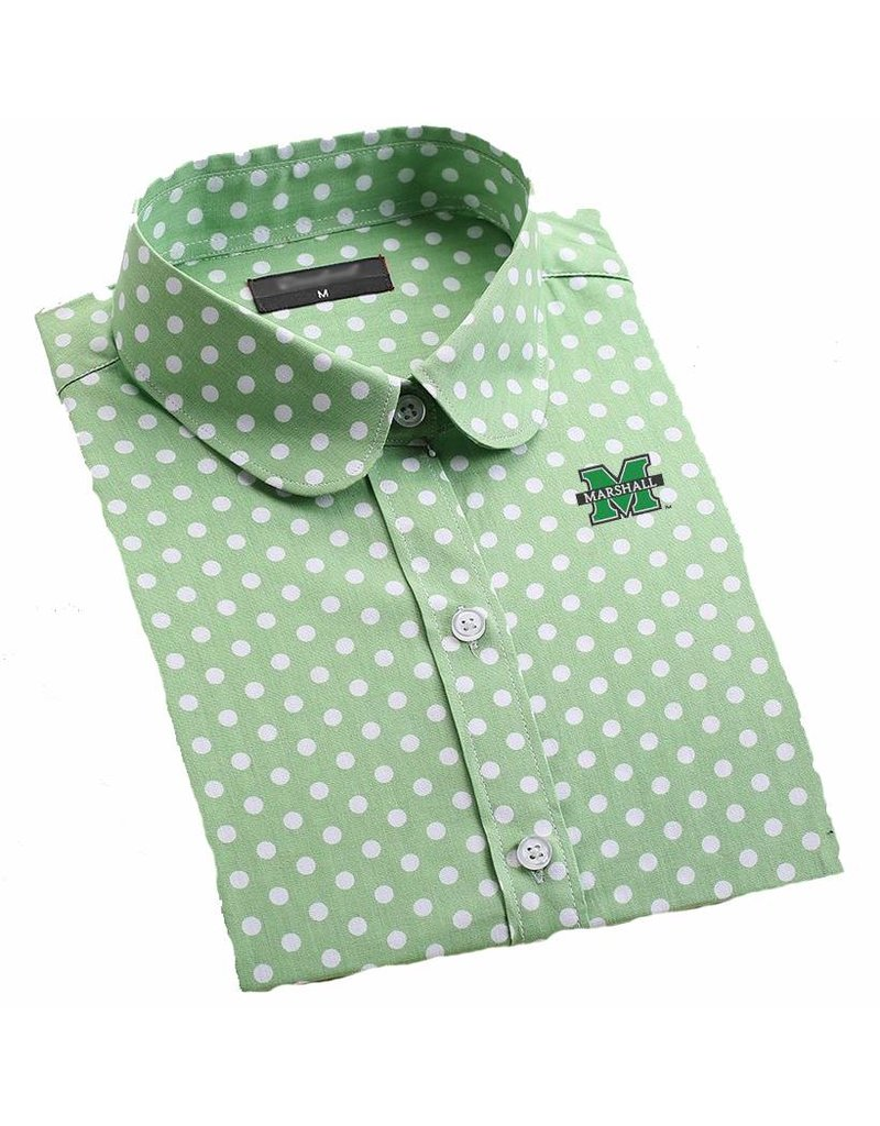 Old Main Exclusive Marshall University Girl's Polka Dot Blouse