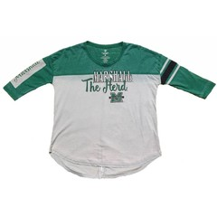 Colosseum Marshall University Be There 3/4 Sleeve Tee Shirt