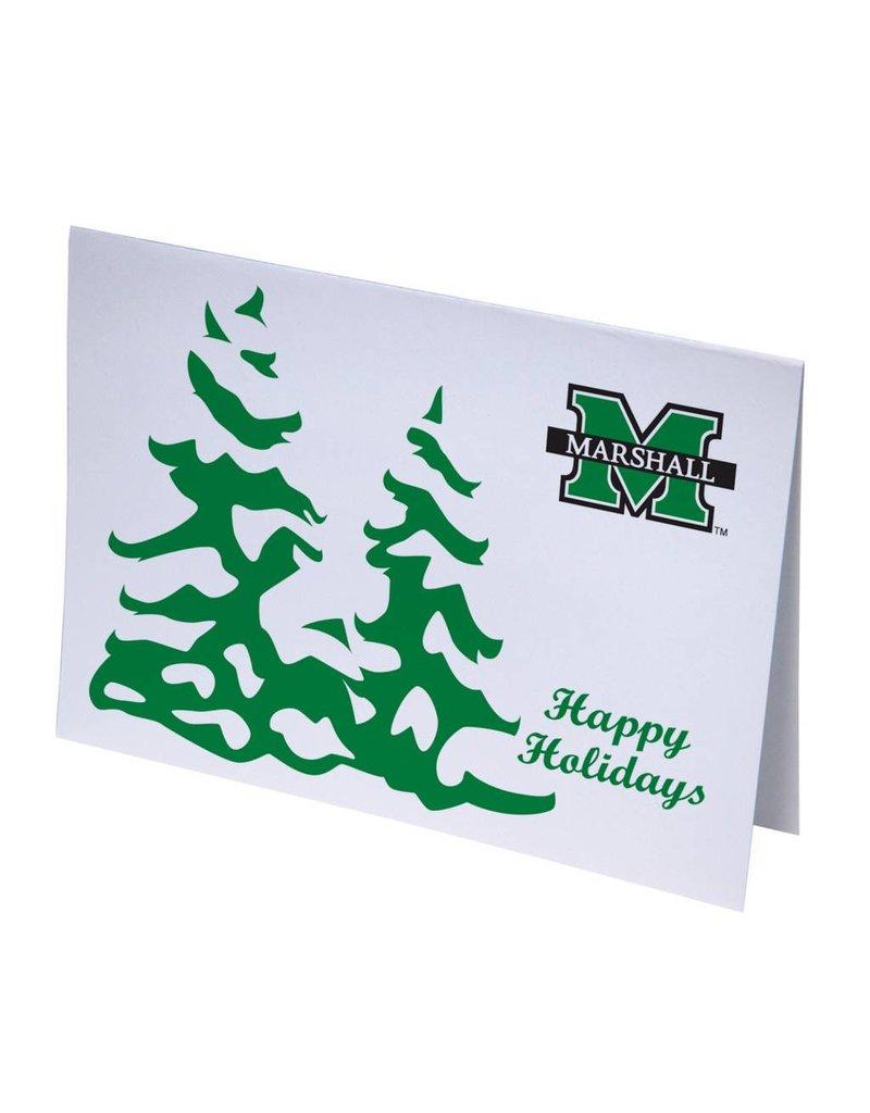 Marshall University Snowy Trees Happy Holiday Cards