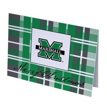 Marshall University Plaid Merry Christmas Cards
