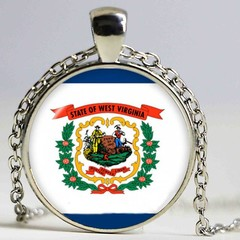 West Virginia Flag Pendant