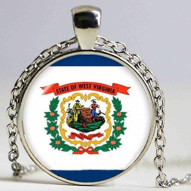 West Virginia Flag Pendant