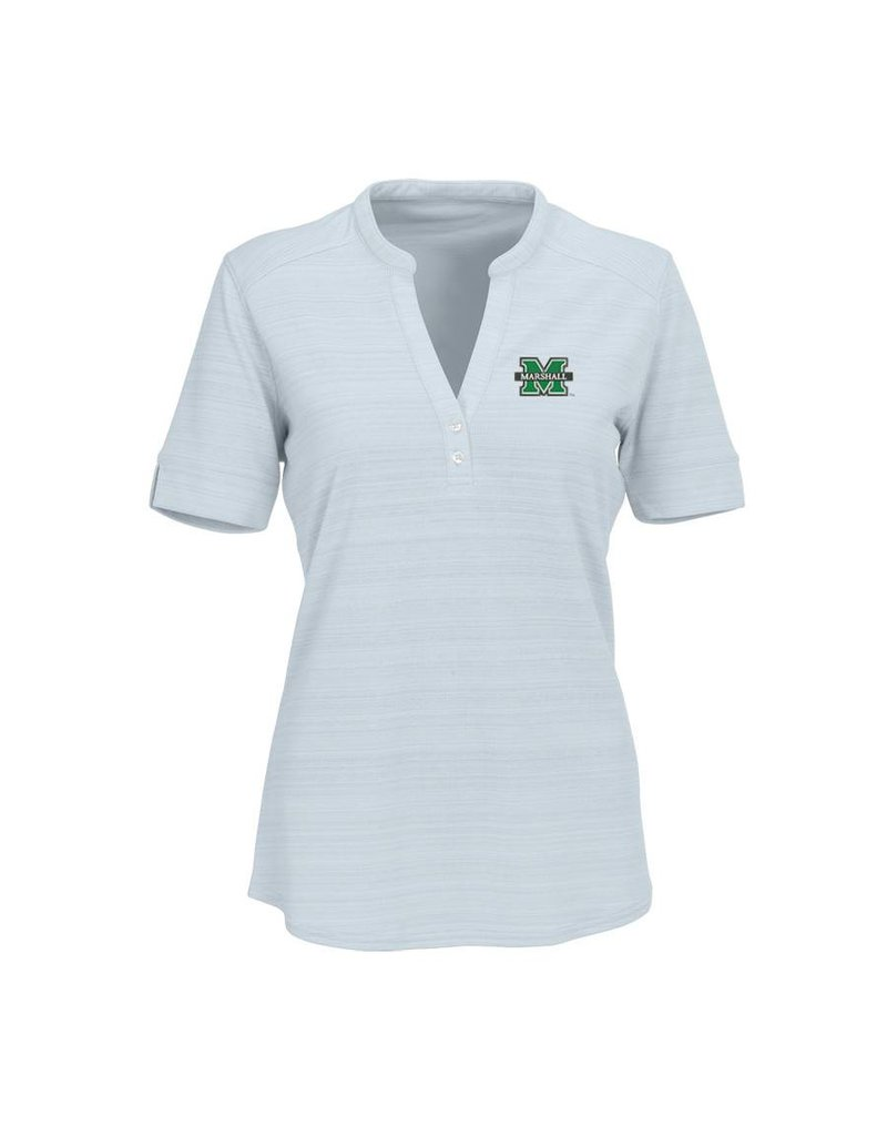 Marshall University Women's Vansport™ Strata Textured Henley