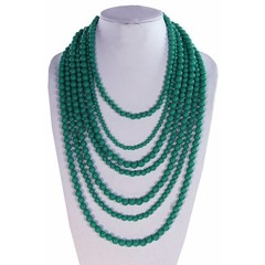 Seven Strand Bead Necklace