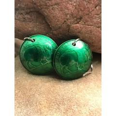 Making Cent$ Green Buffalo Nickel Earrings