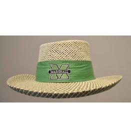 Marshall University Women's Gambler Straw Hat w/ Bow