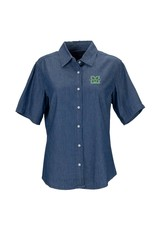 Marshall University Women's Short-Sleeve Hudson Denim Shirt