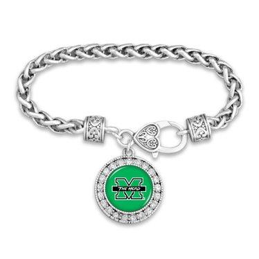 Marshall University The Herd Crystal Circle Clasp Bracelet