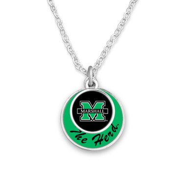 Marshall University The Herd Stacked Circle Necklace