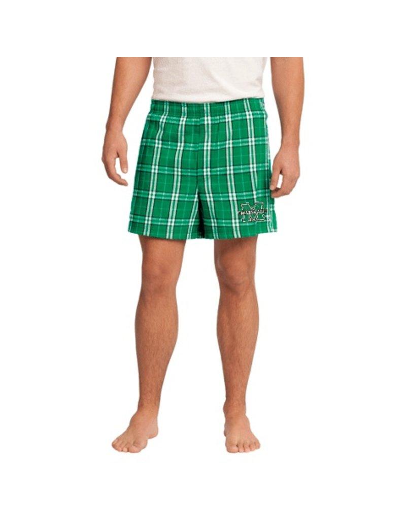 Marshall University Men's Plaid Boxer Shorts